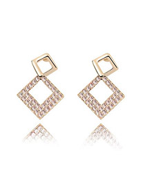 Outlook Light Pink Pink Earrings Alloy Crystal Earrings