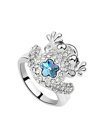 Designs sea blue Blue Rings Alloy Crystal Rings