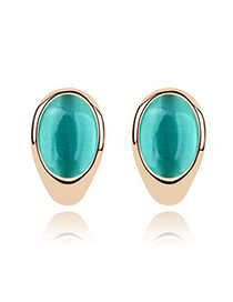 Lightest Blue Earrings Alloy Crystal Earrings
