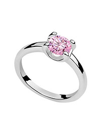 Tungsten Pink Rings Alloy Crystal Rings