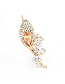 Affinity Yellow Brooch Alloy Crystal Brooches