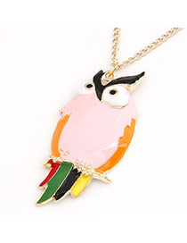 Korean personality fashion OWL looking pendant charm long necklace