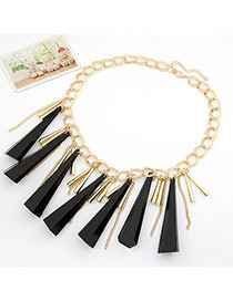 Parker Black Taper Rivet Pendant Alloy Korean Necklaces