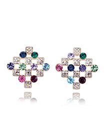 Varsity Multicolour Earrings Alloy Crystal Earrings
