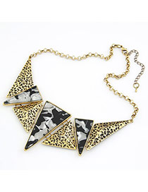 Sanctuary Black Geometric Graphics Triangle Pendant Alloy Bib Necklaces