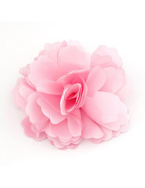 2013 Pink Elegant Fashion Flower Design Cloth Hair clip hair claw