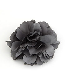 Sweet Gray Flower Shape Decorated Simple Hairpin