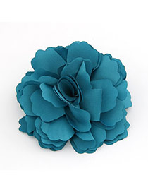 Fashion Pink+dark Blue Flower Pattern Decorated Hair Hoop