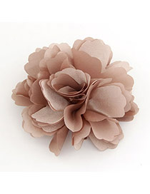 Elegant Gray Rose Flower Shape Decorated Simple Design Alloy Hair clip hair claw