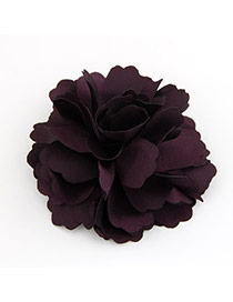 Mustard Purple Sweet Elegant Fashion Flower Design Alloy Hair clip hair claw