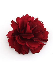 Fashion Red Tassel Decorated Pom Hair Clip (4 Pcs )