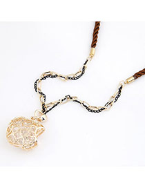 Named Coffee Apple Pendant Alloy Korean Necklaces