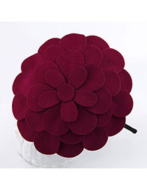 Memorable Red Flower Cotton Hair band hair hoop