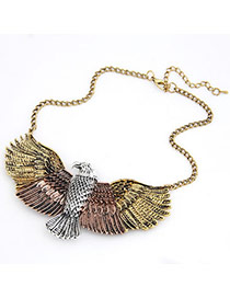 Kinetic Bronze Tiercel Alloy Bib Necklaces