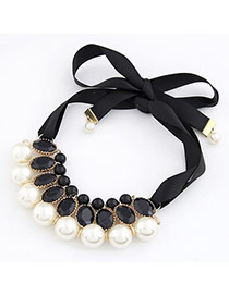 18K White Imitate Pearl Fake Collar Pearl Korean Necklaces