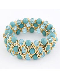 Vera Green Turquoise Alloy Fashion Bangles