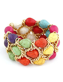 Mens Multicolour Water Drop Alloy Fashion Bangles