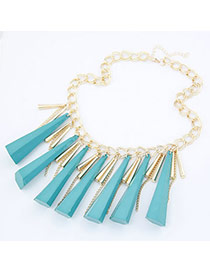 Luxurious Blue Rivet Pendant Alloy Korean Necklaces