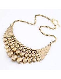 Circle Gold Color Oval Shape Pendant Alloy Korean Necklaces