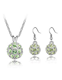 Baroque Olive Set-Delicately Prettyr Alloy Crystal Sets