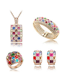 Chiropract Multicolour Set-Luxury Queen Alloy Crystal Sets