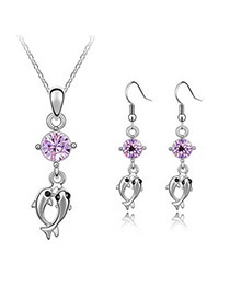 Volcom Violet Set-Double Dolphin Alloy Crystal Sets