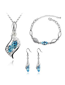 Kinetic Sea Blue Set-Angel Alloy Crystal Sets