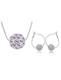 Religious violet Set-Colorful Ball Alloy Crystal Sets