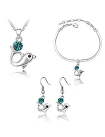 Little Blue Set-Dolphin Alloy Crystal Sets