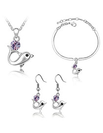 Acrylic Violet Set-Dolphin Alloy Crystal Sets