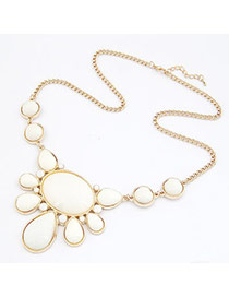 Nautical White Water Drop Shape Alloy Korean Necklaces