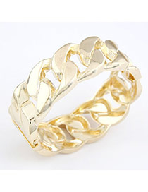 Eatable Gold Color Chain Alloy Fashion Bangles