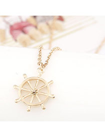 Postal Gold Color Windmills Shape Pendant