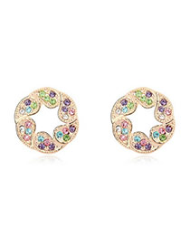 2011 Multicolour Earrings Alloy Crystal Earrings
