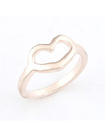 Punk Gold Color Heart Alloy Korean Rings