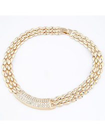 Vintage Gold Color Hollow Out Decorated Choker
