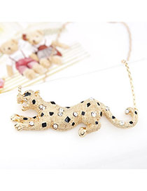 Hiking Gold Color Leopard Alloy Korean Necklaces