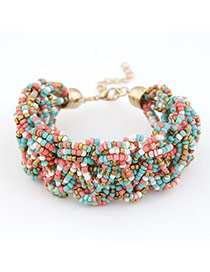 Fashion Yellow Flower Decorated Color Matching Simple Bracelet