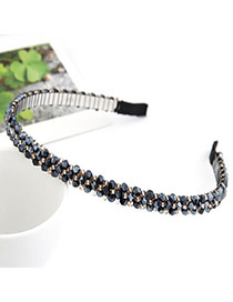 Engravable Blue Handmade Weave Alloy Hair band hair hoop