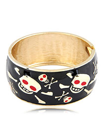 Mobile Black Skull Alloy Fashion Bangles