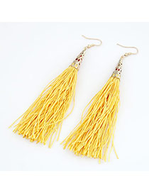 Teen Yellow Elegant Tassels Design