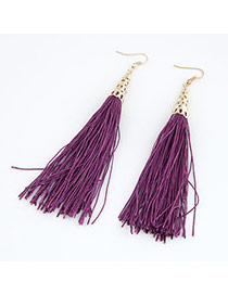 Skeleton Purple Elegant Tassels Design