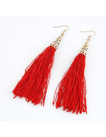 Gorgeous Red Elegant Tassels Design
