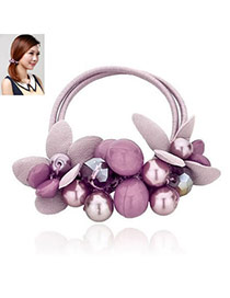 Classic Purple Handmade Design Rubber Band Hair band hair hoop