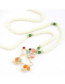 Quality Multi Colour Wooden Horse Shape Alloy Korean Necklaces