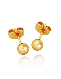 Famale Golden Gold Plating Global Copper Stud Earrings