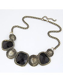 black geometry shape design alloy Korean Necklaces