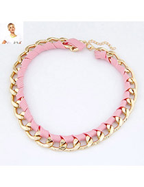 Folding Pink Fluorescence Weave Design