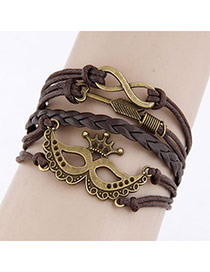 Fashion Gold Color Multi-layer Design Opening Bracelet