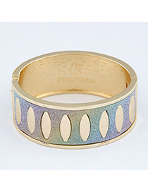 Crinkle Multicolor Punk Circle Design Alloy Fashion Bangles